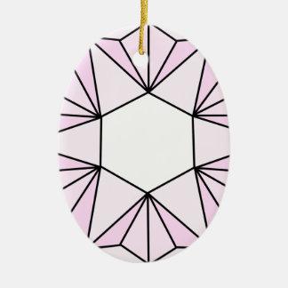 Six Pointed Star Gem2 Ceramic Ornament