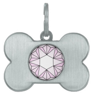 Six Pointed Star Gem2 Pet Name Tag