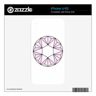 Six Pointed Star Gem2 Skins For iPhone 4S