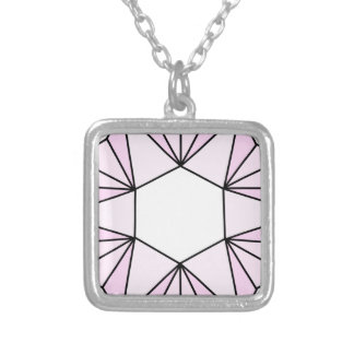 Six Pointed Star Gem2 Square Pendant Necklace