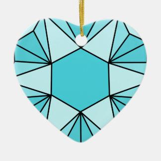 Six Pointed Star Gem3 Ceramic Ornament