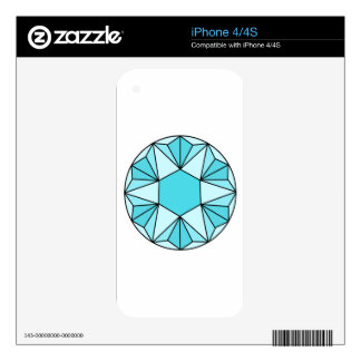 Six Pointed Star Gem3 Skins For iPhone 4S