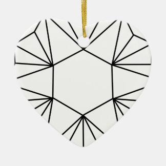 Six Pointed Star Gem Ceramic Ornament