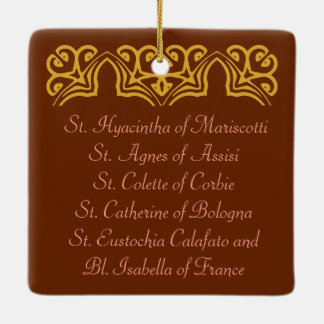 SIx Poor Clare Saints (SAU 027) Ceramic Ornament