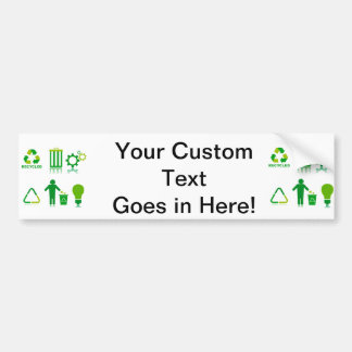 six recycling designs on one.png bumper stickers