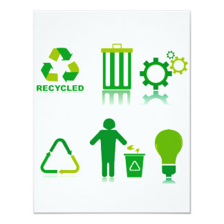 six recycling designs on one.png card
