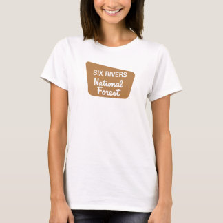 Six Rivers National Forest (Sign) T-Shirt