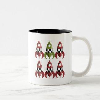 Six Rockets Two-Tone Coffee Mug