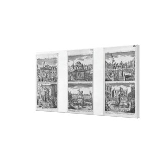 Six royal statues destroyed in Paris Canvas Print