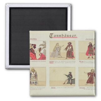 Six scenes relating to the opera 'Tannhauser' 2 Inch Square Magnet