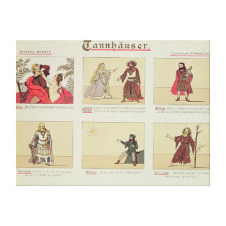 Six scenes relating to the opera 'Tannhauser' Canvas Print