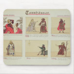 Six scenes relating to the opera 'Tannhauser' Mouse Pad