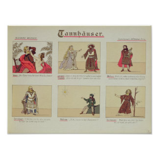Six scenes relating to the opera 'Tannhauser' Poster