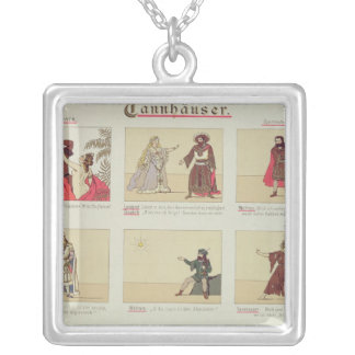 Six scenes relating to the opera 'Tannhauser' Silver Plated Necklace