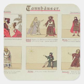 Six scenes relating to the opera 'Tannhauser' Square Sticker