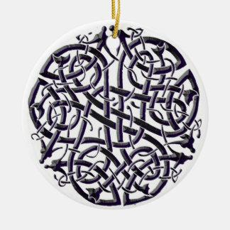 Six Serpents Shield Ceramic Ornament
