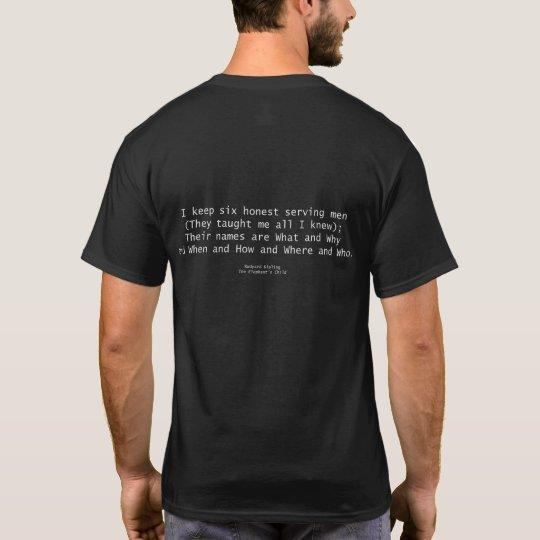 Six Serving Men Black Shirts