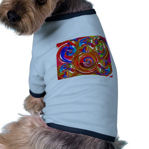 Six Sigma Circles - Reiki Color Therapy Plates V8 Doggie T-shirt