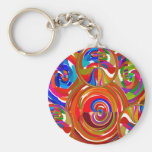 Six Sigma Circles - Reiki Color Therapy Plates V8 Key Chains