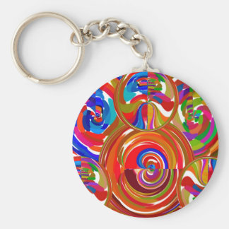 Six Sigma Circles - Reiki Color Therapy Plates V8 Keychain