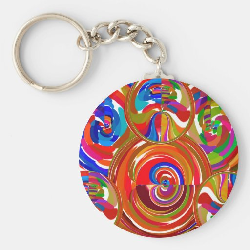 Six Sigma Circles - Reiki Color Therapy Plates V8 Key Chains
