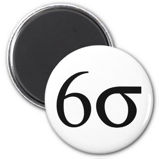 Six Sigma (Lean Six Sigma) 2 Inch Round Magnet