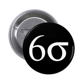 Six Sigma (Lean Six Sigma) Pinback Buttons