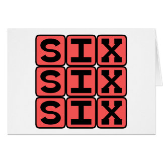 Six Six Six, Number of The Beast Greeting Card