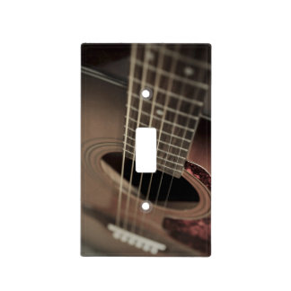 Six Sting Acoustic Guitar Light Switch Cover