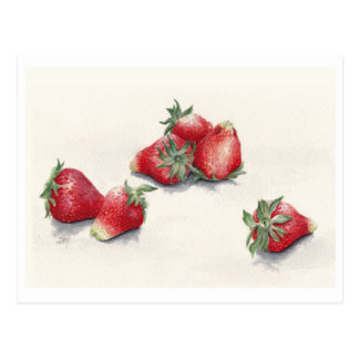 Six Strawberries Postcard