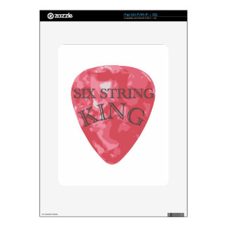 Six String King Decal For iPad