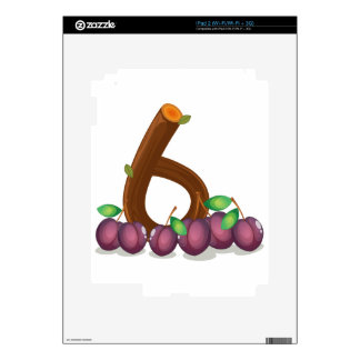 Six violet colored fruits skins for iPad 2