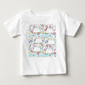 Six Westies in a spring plaid Baby T-Shirt