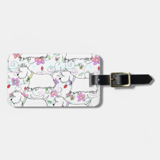 Six Westies in a spring plaid Bag Tag