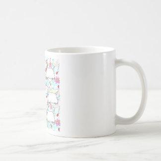 Six Westies in a spring plaid Coffee Mug