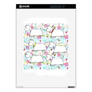 Six Westies in a spring plaid Skin For iPad 2