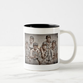 Six Women Workers on the Wharf WWII Mugs
