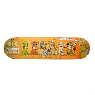 Six Worms of Glory skateboard: hasta la vista baby Custom Skate Board