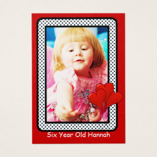 Six Year Old  Girls Birthday Photo Cards