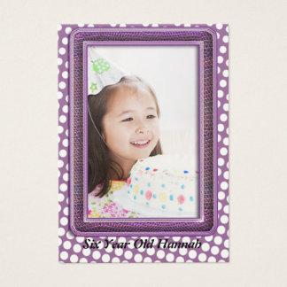 Six Year Old  Girls Birthday Photo Cards