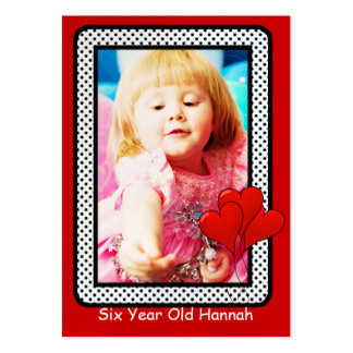 Six Year Old Girls Birthday Photo Cards Business Card Template