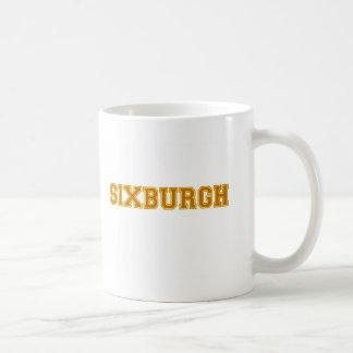 sixburgh classic white coffee mug