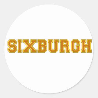 sixburgh round sticker