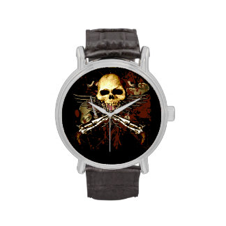 Sixgun Skull Timepiece Wrist Watch