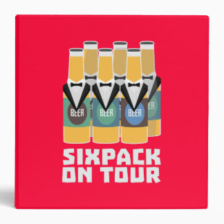 Sixpack Beer on Tour Zn1pu 3 Ring Binder