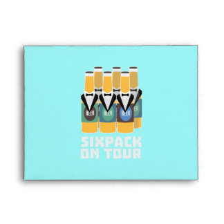 Sixpack Beer on Tour Zn1pu Envelope