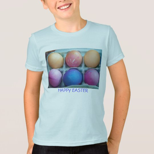 Sixpack of Colored Eggs, HAPPY EASTER T-Shirt