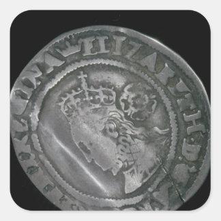 Sixpence Square Sticker