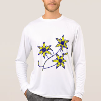 Sixt star yellow and dark blue floral T-Shirt