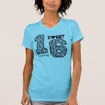 Sixteeen dulce nombre de encargo V93 de la cebra Camisetas